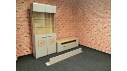 Nová malá obývací stěna hnědošedá