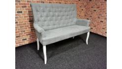 Nová stylová lavice NORRIS šedobílá