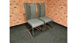 Nová 2x šedá židle VOTA koženka