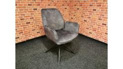 Nová šedá židle-křesílko FLYNN
