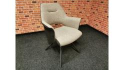 Nová hnědá židle-křesílko látka koženka