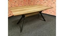 Nový hnědočerný jídelní stůl LINO