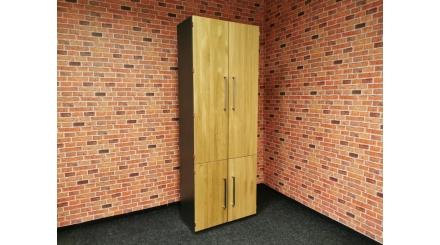 Nová šedohnědá kancelářská skříň