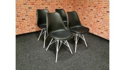 Nová 4x jídelní židle DESY černobílá