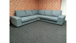 Nová hranatá sedačka RENÉE modrošedá