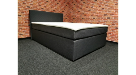 Nová šedá boxspring postel COUNTESS 140