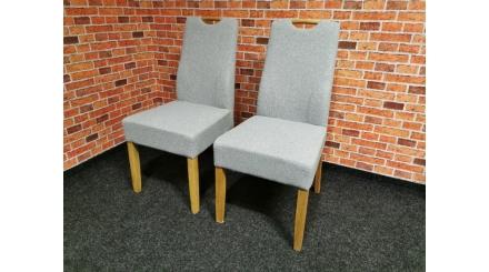 Nová 2x světle šedá židle madlo