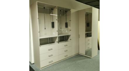 Nová šedá luxusní rohová skříň
