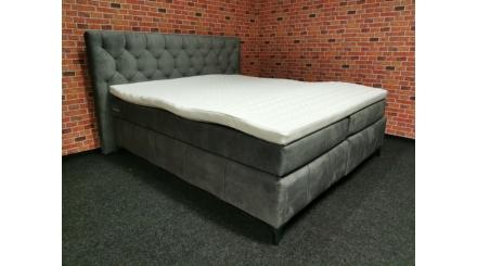 Nová šedá boxspring postel PEMBROKE