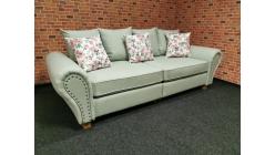 Nový stylový šedý gauč kytky