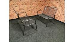 Nová 2x zahradní lavice kov