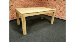 Nový hnědý jídelní stůl zaoblený