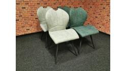 Nová 4x židle INGO šedá zelená