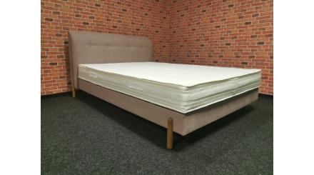 Nová růžová boxspring postel MALNÖ 140
