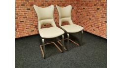 Nová 2x krémová židle VITUS