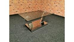 Konferenční stůl sklo kov BUDELLI