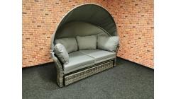 Nový zahradní rozkládací půlkulatý altán-gauč